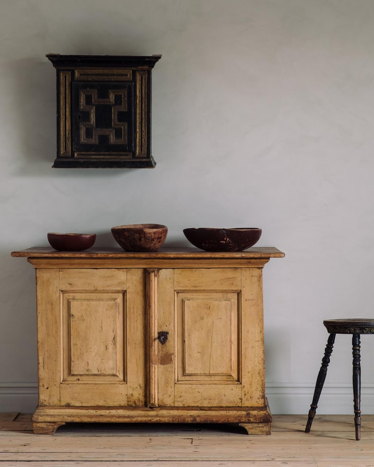 Pine Unusual 18th Century Swedish Baroque Buffet For Sale