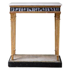 Unusual 19th Century Gustavian Console Table