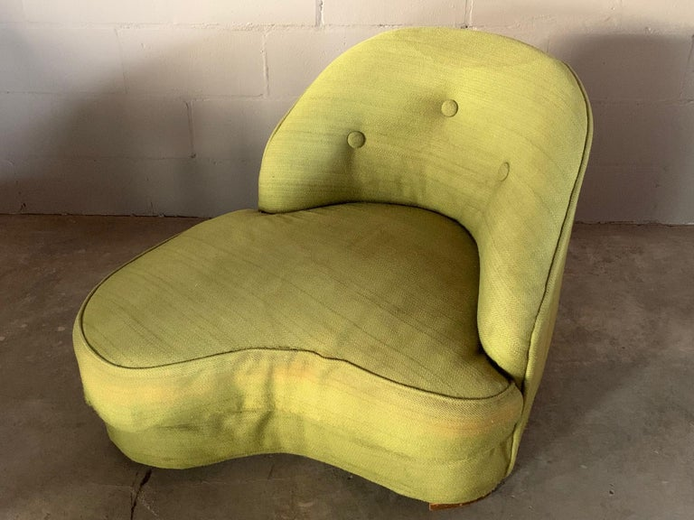 Modern Unusual Biomorphic Chaise circa 1940s Hollywood Regency For Sale