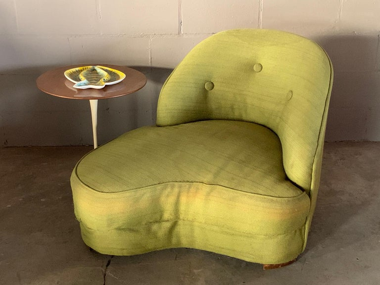 Unusual Biomorphic Chaise circa 1940s Hollywood Regency In Good Condition For Sale In St.Petersburg, FL