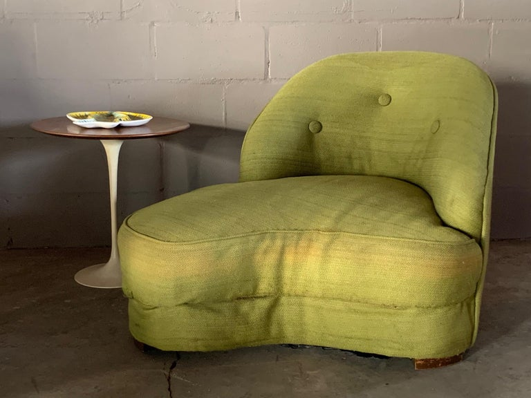 Unusual Biomorphic Chaise circa 1940s Hollywood Regency For Sale 1