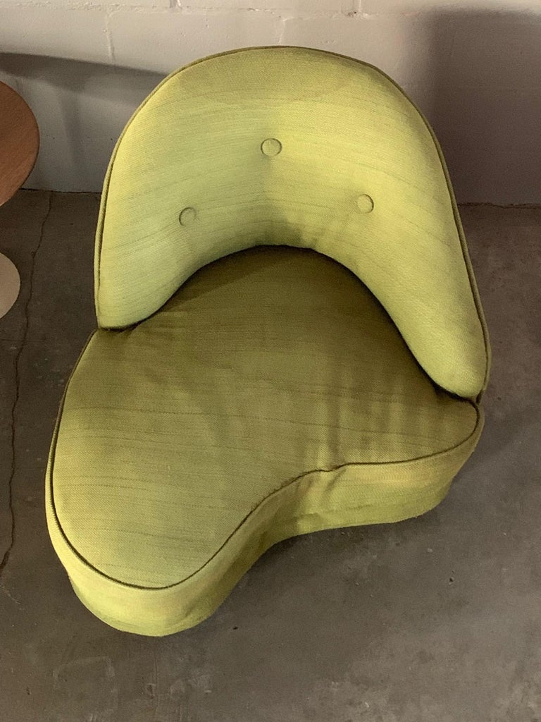 Unusual Biomorphic Chaise circa 1940s Hollywood Regency For Sale 2