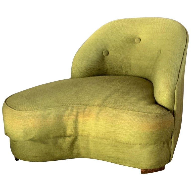 Unusual Biomorphic Chaise circa 1940s Hollywood Regency For Sale