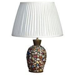 Unusual Ceramic Collage Lamp