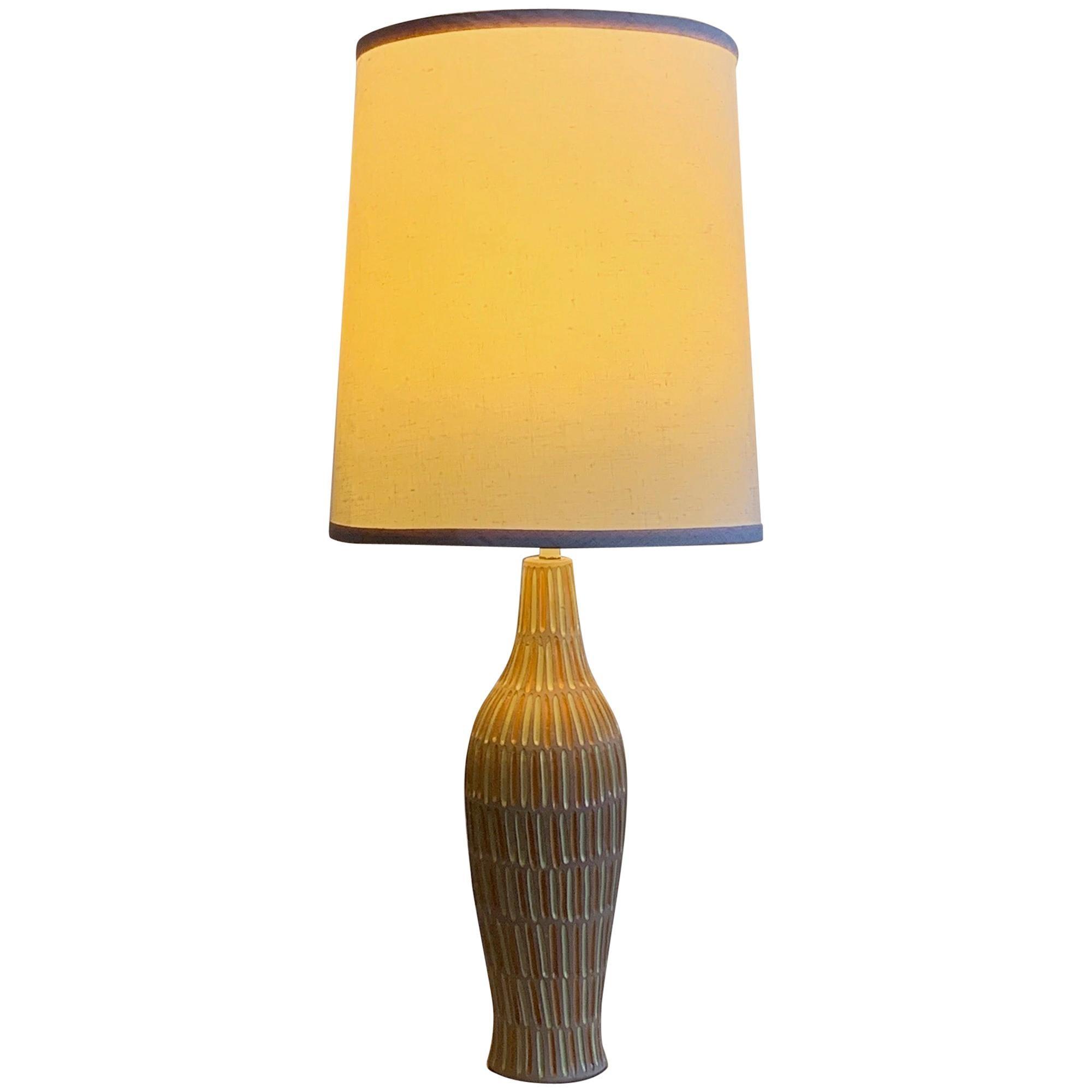 Unusual Ceramic Lamp by Raymor