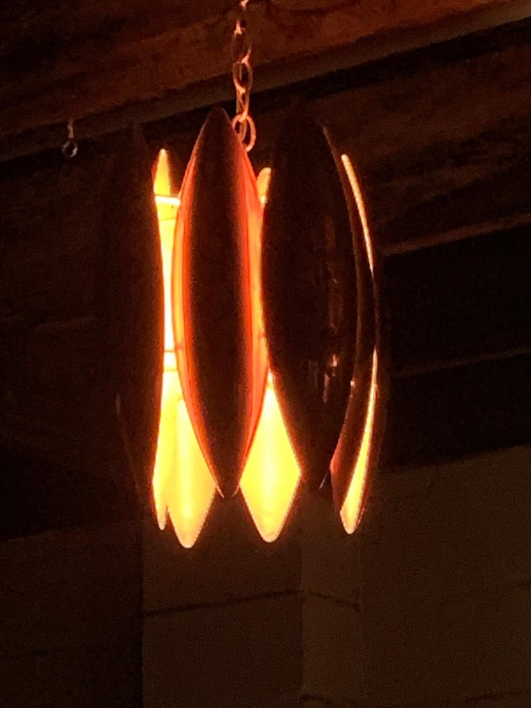 Unusual Copper Chandelier, 1950s For Sale 2