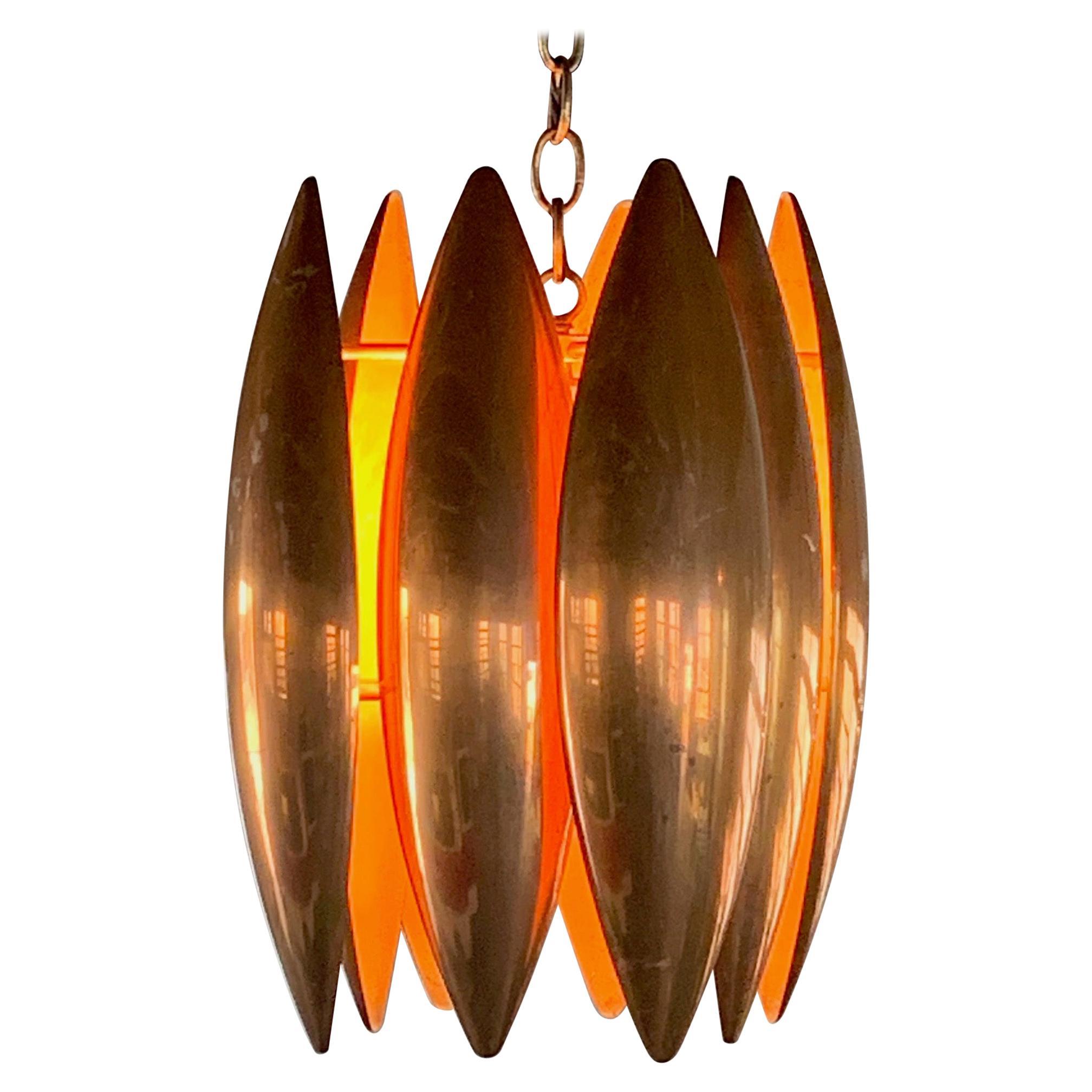 Unusual Copper Chandelier, 1950s