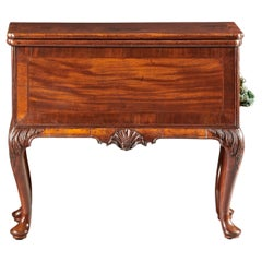 Unusual English George II Collector Quality Mahogany Mechanical Writing Chest