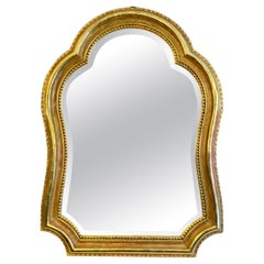Unusual French Antique Gold Gilt Mirror