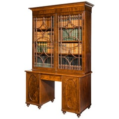 An Unusual George III Period Bookcase with Kneehole