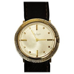 Unusual Jules Jurgensen Dress Wristwatch in 14-Karat Gold, circa 1970s