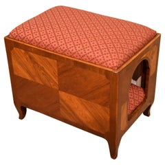Unusual Kingwood French Dog Kennel/Stool
