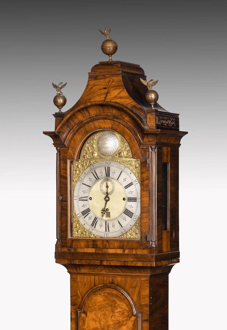 An Unusual, George III Period, Longcase Clock in Walnut Engraved William Harris For Sale 5