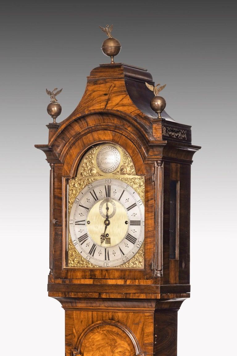 English An Unusual, George III Period, Longcase Clock in Walnut Engraved William Harris For Sale