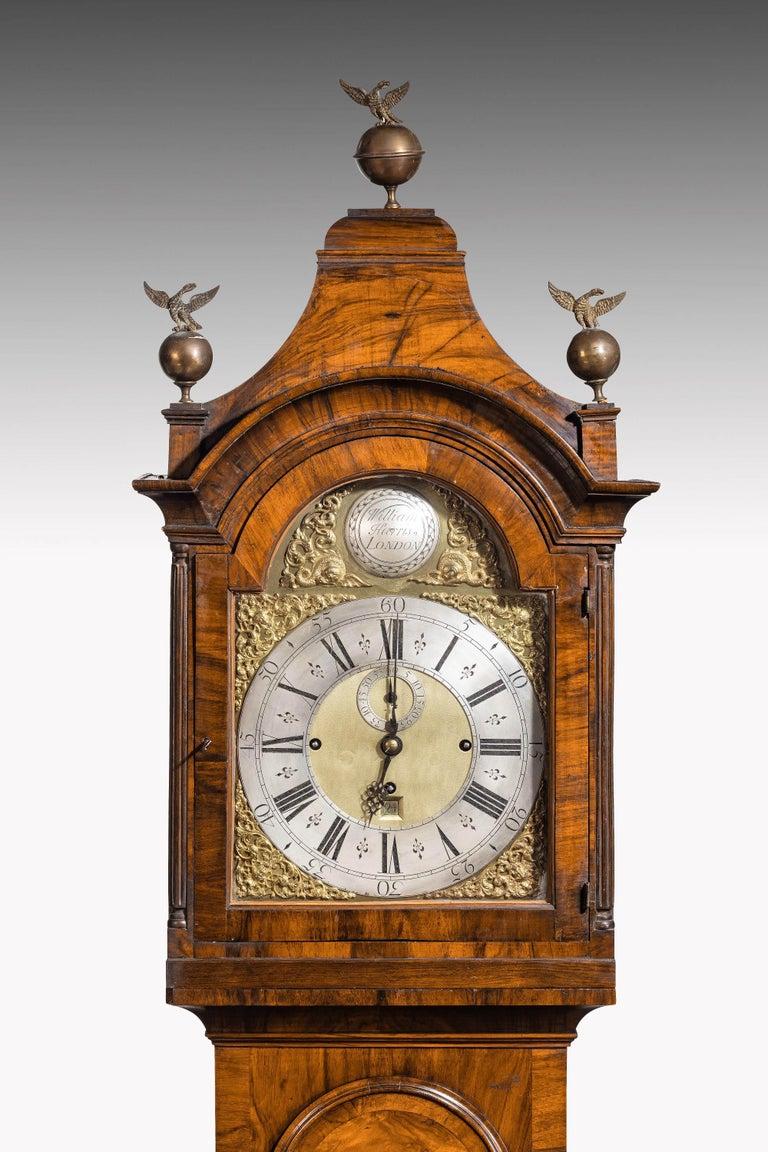 19th Century An Unusual, George III Period, Longcase Clock in Walnut Engraved William Harris For Sale