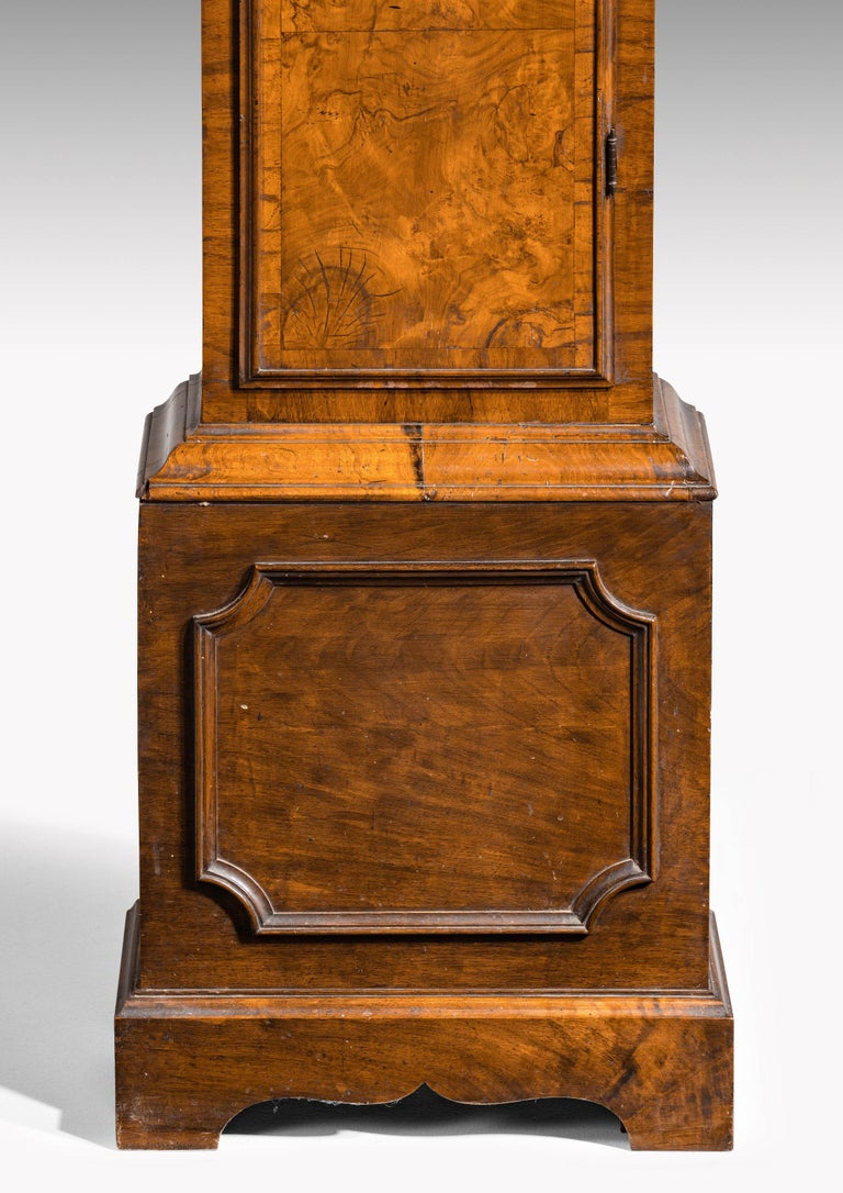 An Unusual, George III Period, Longcase Clock in Walnut Engraved William Harris For Sale 1