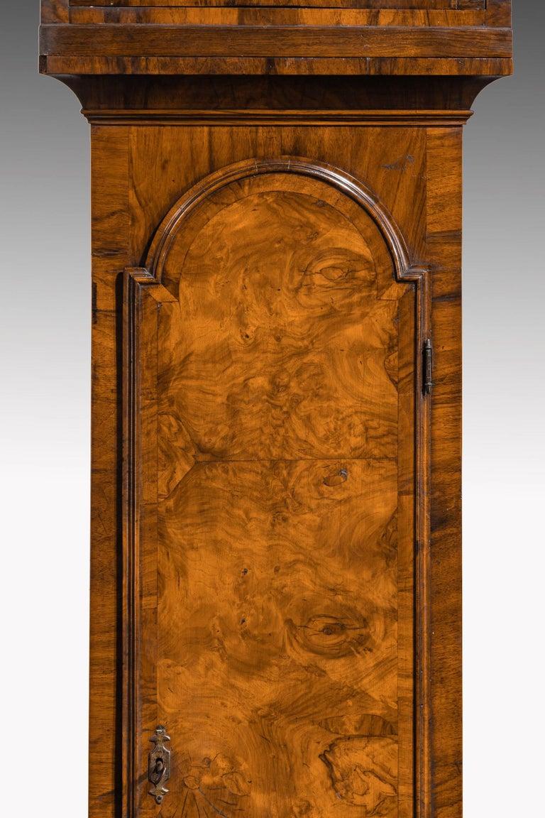 An Unusual, George III Period, Longcase Clock in Walnut Engraved William Harris For Sale 2