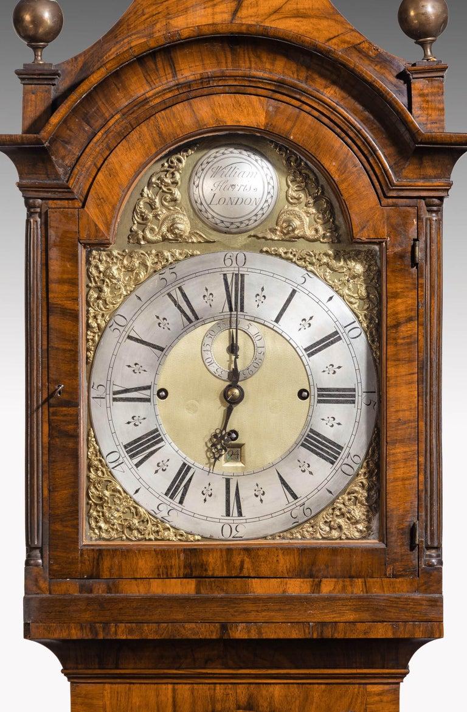 An Unusual, George III Period, Longcase Clock in Walnut Engraved William Harris For Sale 3