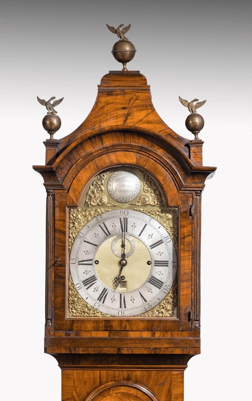 An Unusual, George III Period, Longcase Clock in Walnut Engraved William Harris For Sale 4