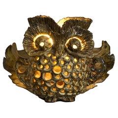 Unusual Mid-20th Century Ceramic Owl Lamp