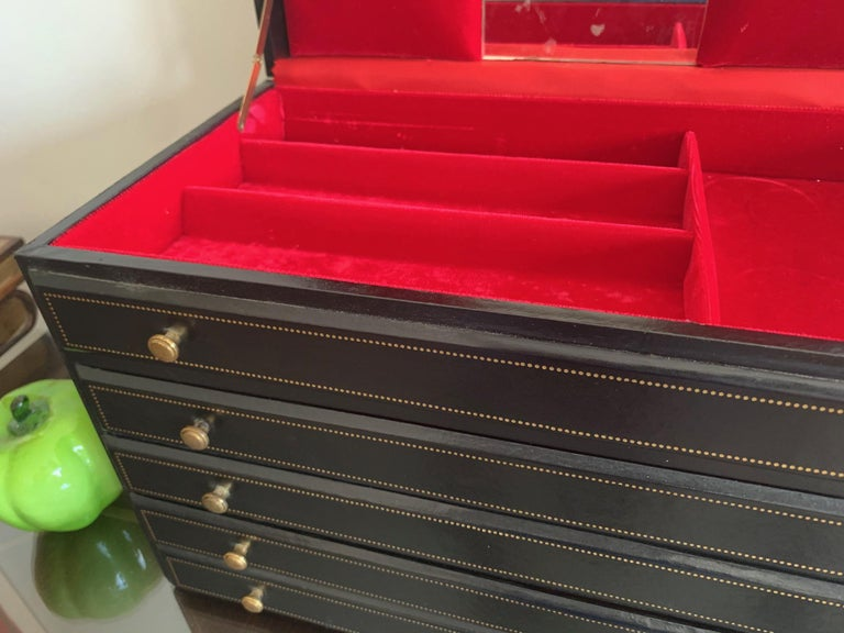 Unusual Miniature Chest or Jewelry Box In Good Condition For Sale In St.Petersburg, FL