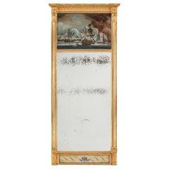 Unusual Nelson Commemorative Mirror, circa 1815