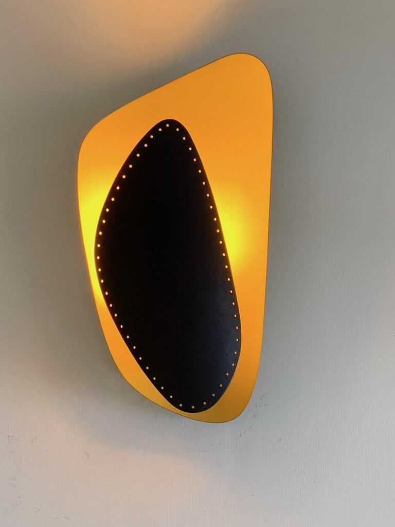 Mid-Century Modern Unusual Sconce, Germany, 1950s For Sale