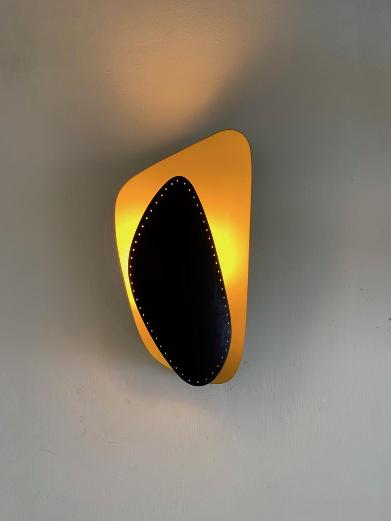 Unusual Sconce, Germany, 1950s In Good Condition For Sale In St.Petersburg, FL