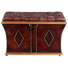 Unusual Shaped William IV Rosewood Framed Box Ottoman