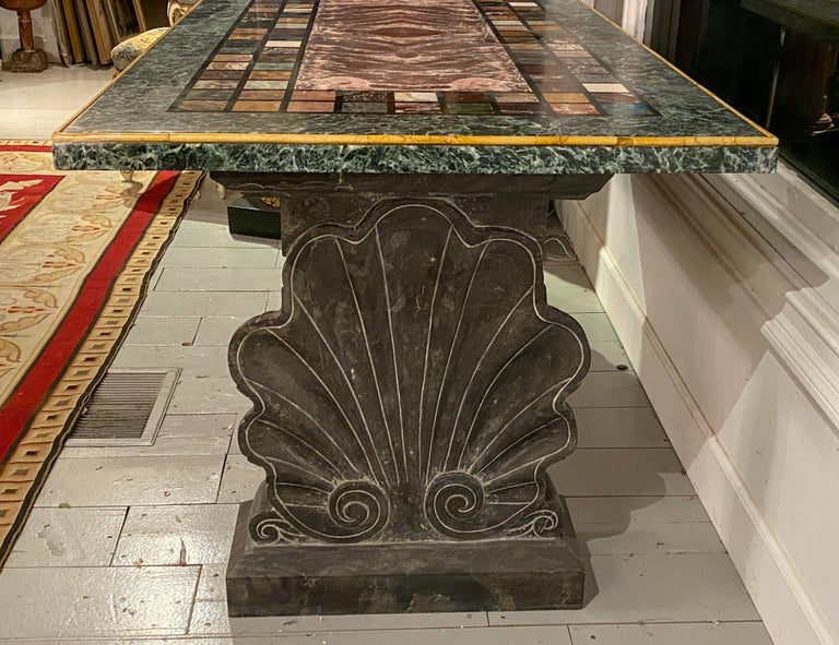"""Baroque An Unusual """"Specimen Petra Dura"""" Marble Top Table For Sale"""