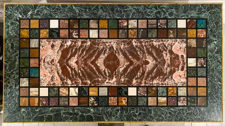 "Italian An Unusual ""Specimen Petra Dura"" Marble Top Table For Sale"