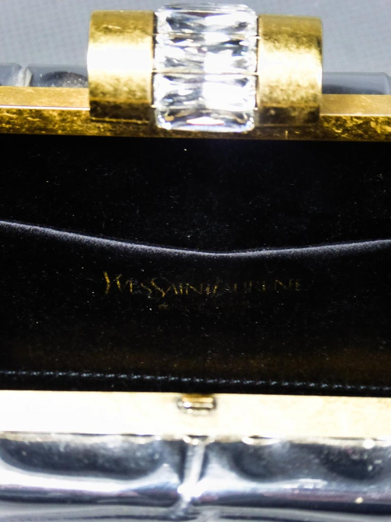 Gray An Yves Saint Laurent Evening Small Purse Circa 1980/1990 For Sale