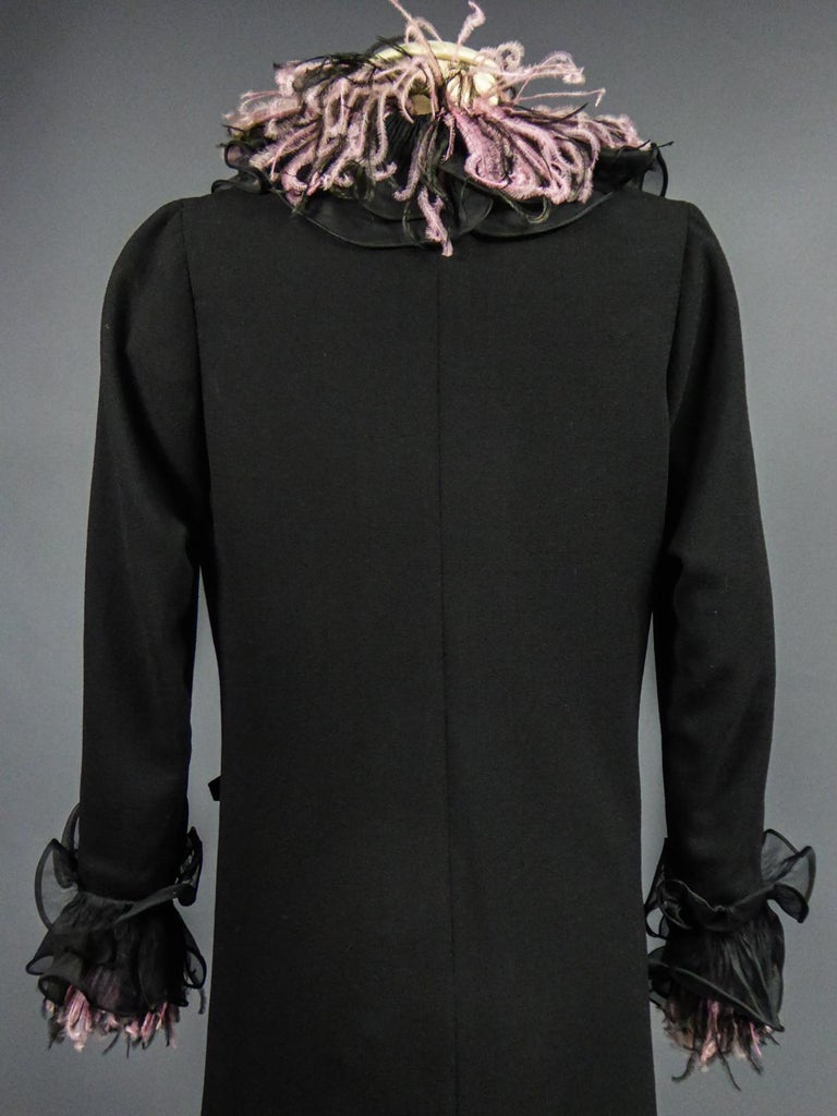 An Yves Saint Laurent Haute Couture Coat Dress Numbered 29390 Circa 1970/1980 For Sale 5