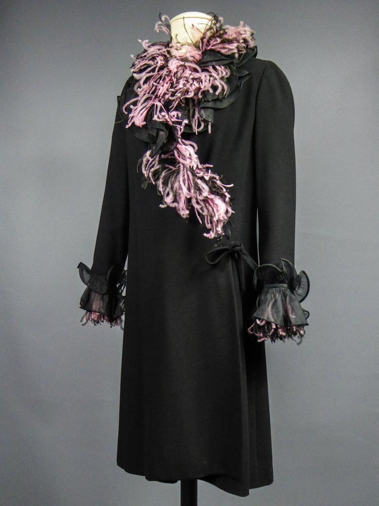 An Yves Saint Laurent Haute Couture Coat Dress Numbered 29390 Circa 1970/1980 For Sale 7