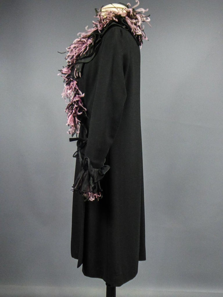 An Yves Saint Laurent Haute Couture Coat Dress Numbered 29390 Circa 1970/1980 For Sale 9