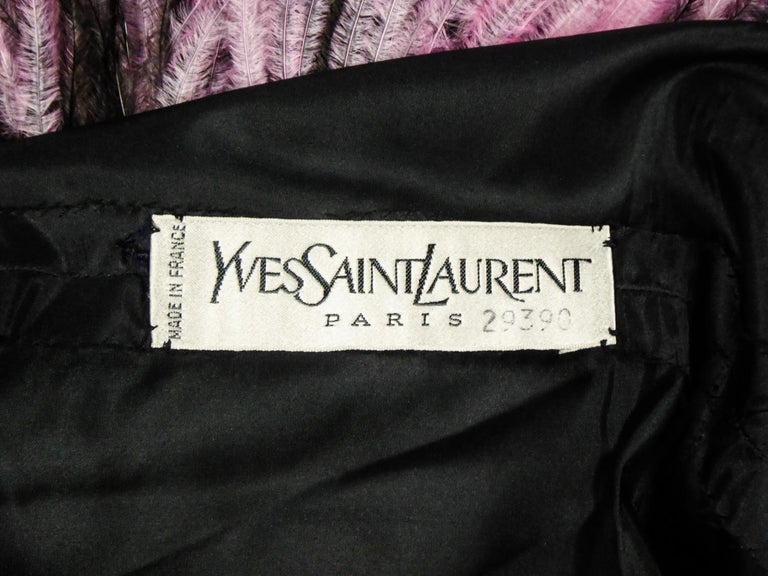 An Yves Saint Laurent Haute Couture Coat Dress Numbered 29390 Circa 1970/1980 For Sale 10