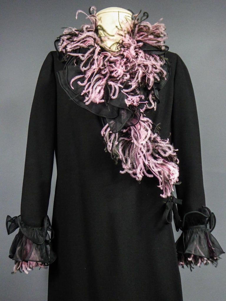 An Yves Saint Laurent Haute Couture Coat Dress Numbered 29390 Circa 1970/1980 In Excellent Condition For Sale In Toulon, FR