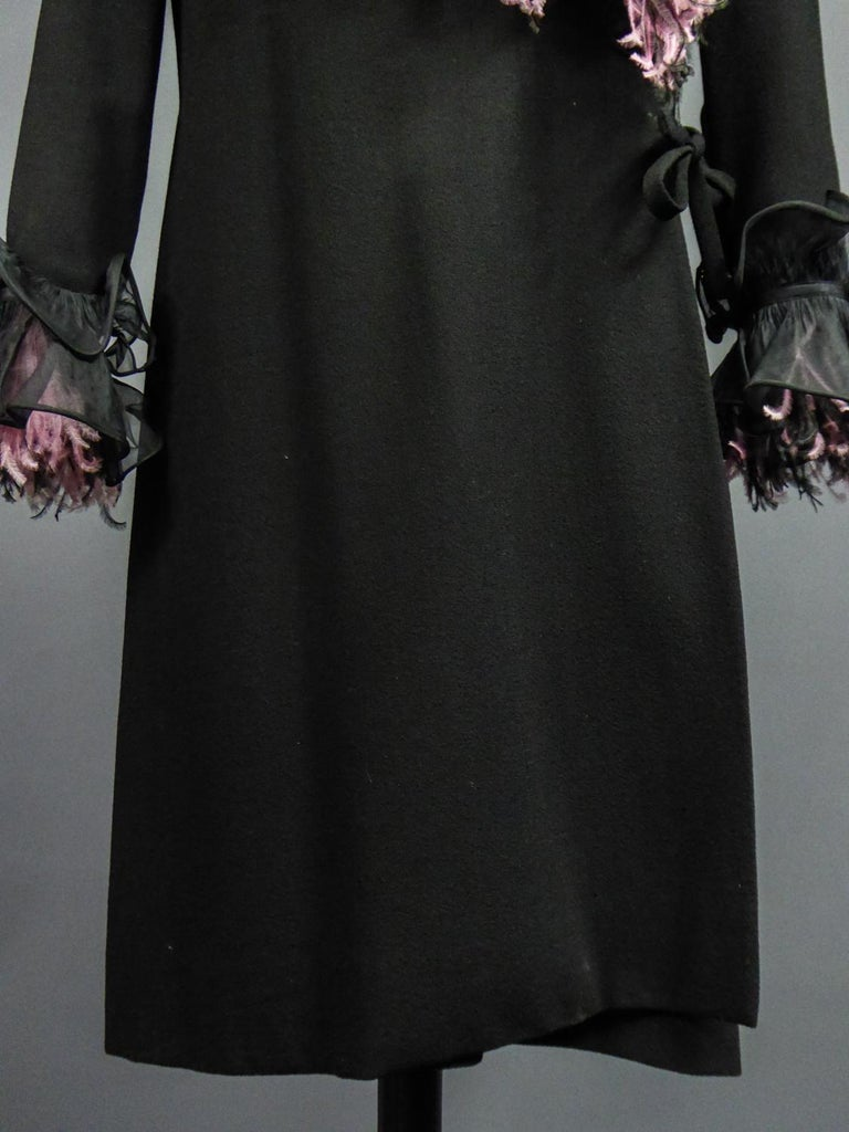 An Yves Saint Laurent Haute Couture Coat Dress Numbered 29390 Circa 1970/1980 For Sale 3