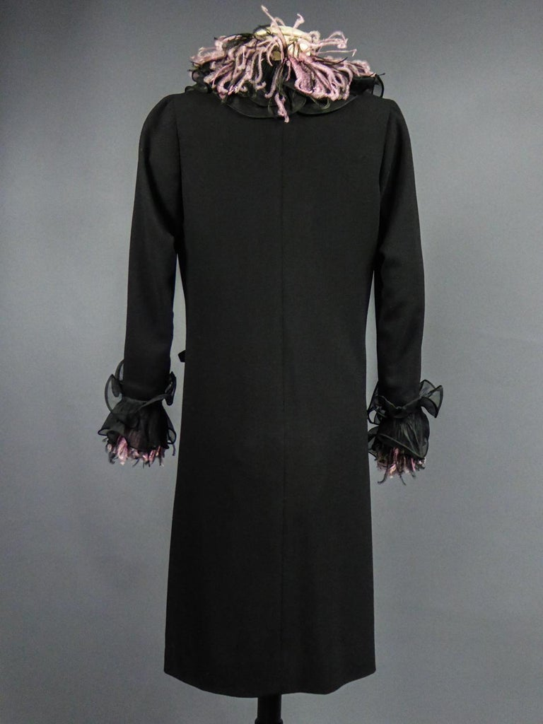An Yves Saint Laurent Haute Couture Coat Dress Numbered 29390 Circa 1970/1980 For Sale 4