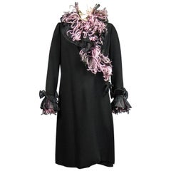 An Yves Saint Laurent Haute Couture Coat Dress Numbered 29390 Circa 1970/1980