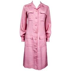 An Yves Saint Laurent Rive Gauche Blouse Saharian Style Dress Circa 1980