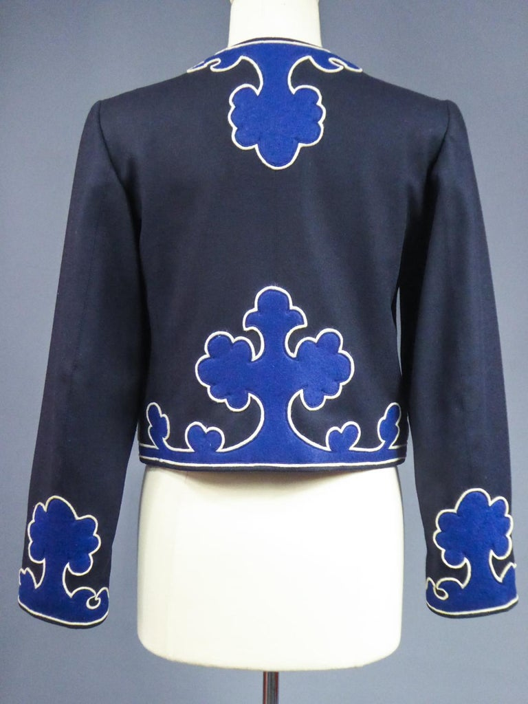 An Yves Saint Laurent Rive Gauche Bolero Collection Tribute to Picasso 1979 For Sale 6