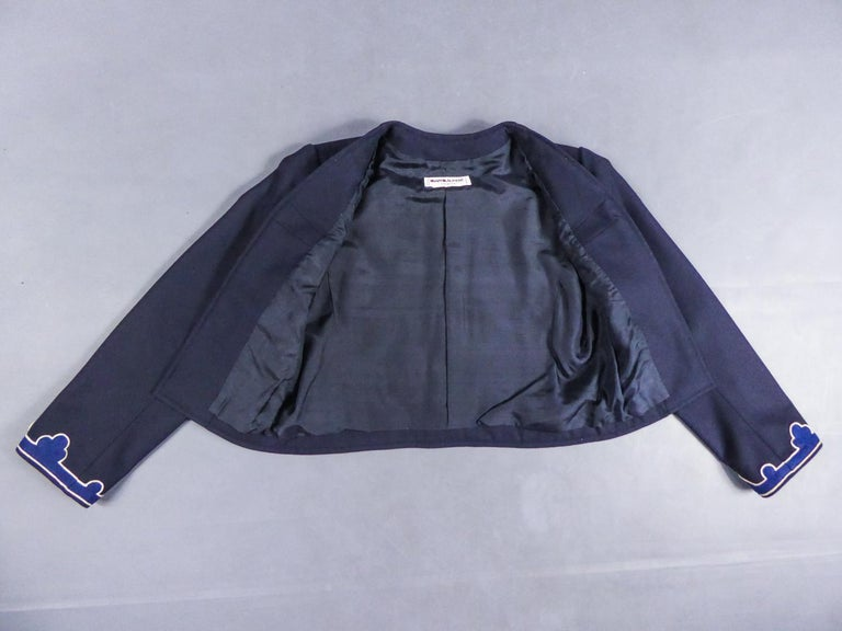 Purple An Yves Saint Laurent Rive Gauche Bolero Collection Tribute to Picasso 1979 For Sale