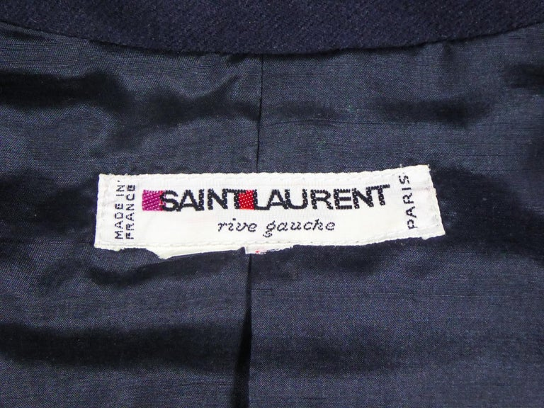An Yves Saint Laurent Rive Gauche Bolero Collection Tribute to Picasso 1979 In Excellent Condition For Sale In Toulon, FR