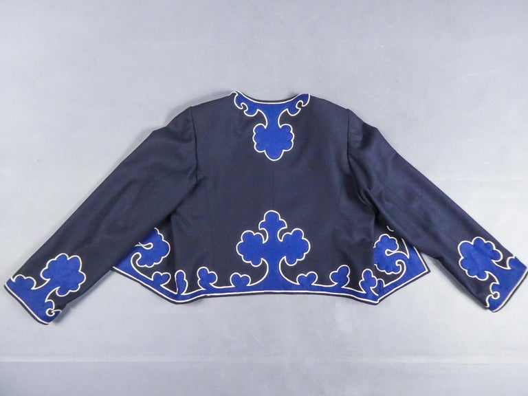 Women's An Yves Saint Laurent Rive Gauche Bolero Collection Tribute to Picasso 1979 For Sale