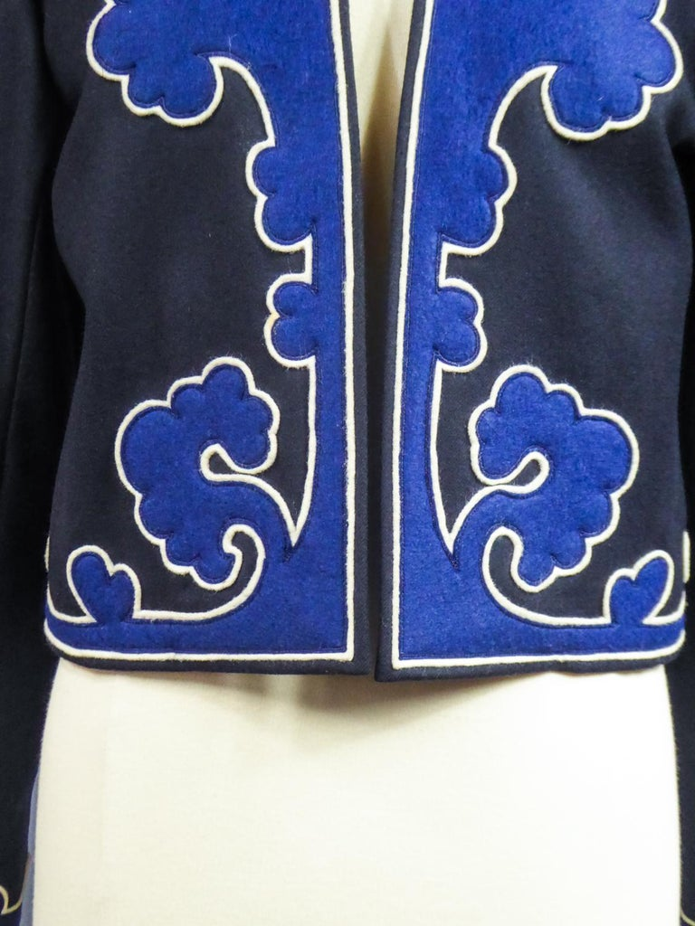 An Yves Saint Laurent Rive Gauche Bolero Collection Tribute to Picasso 1979 For Sale 3