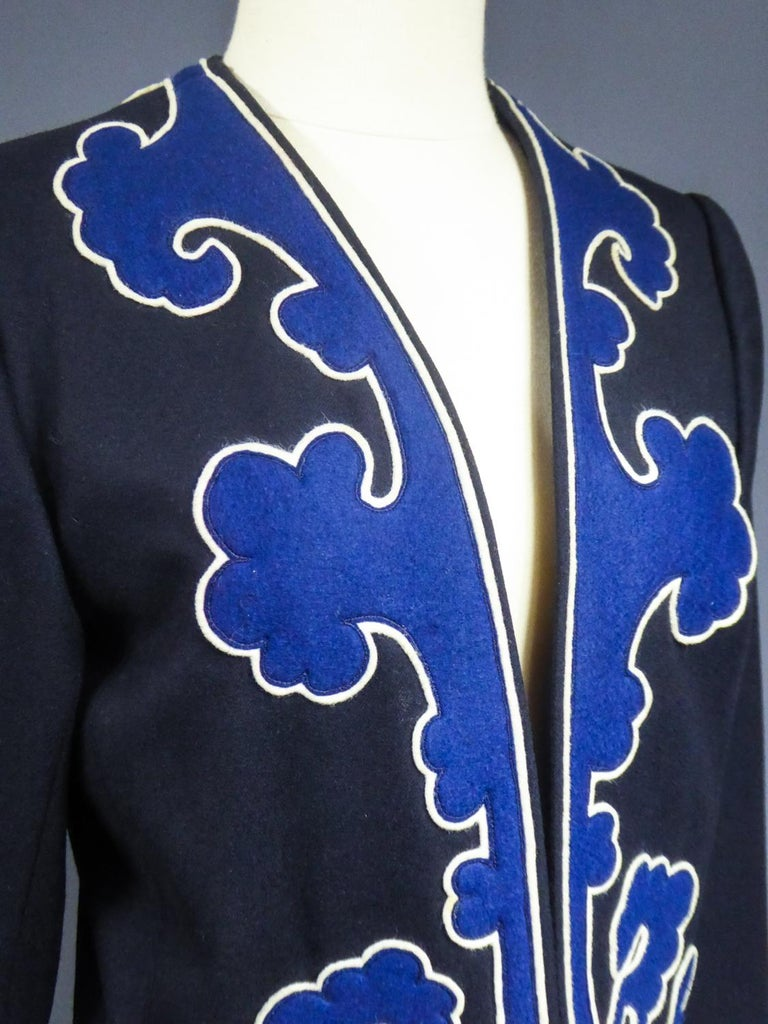 An Yves Saint Laurent Rive Gauche Bolero Collection Tribute to Picasso 1979 For Sale 4