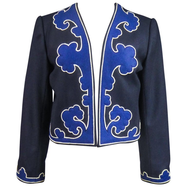 An Yves Saint Laurent Rive Gauche Bolero Collection Tribute to Picasso 1979 For Sale