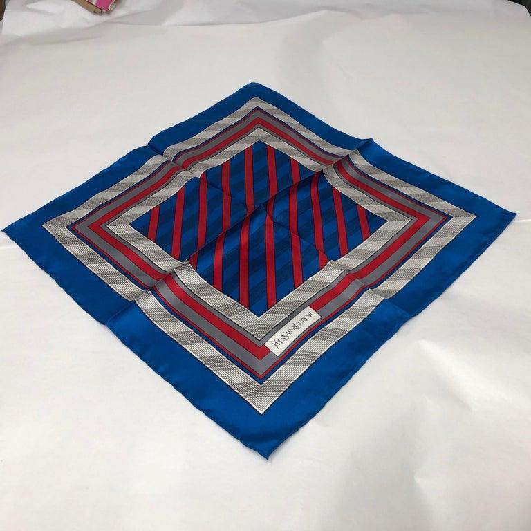 An Yves Saint Laurent Vintage Silk Foulard circa 1980 For Sale 1