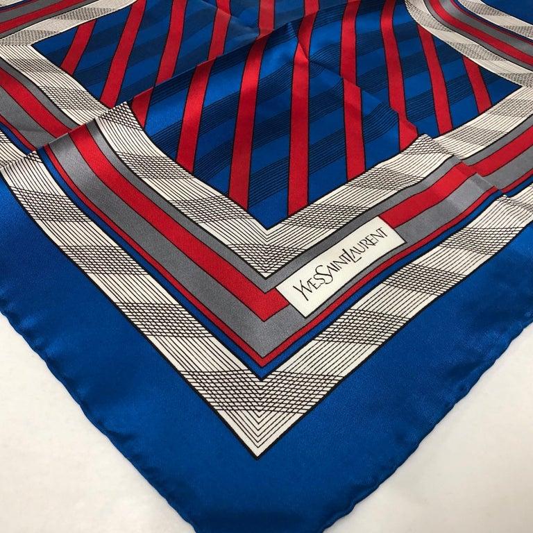 An Yves Saint Laurent Vintage Silk Foulard circa 1980 For Sale 2